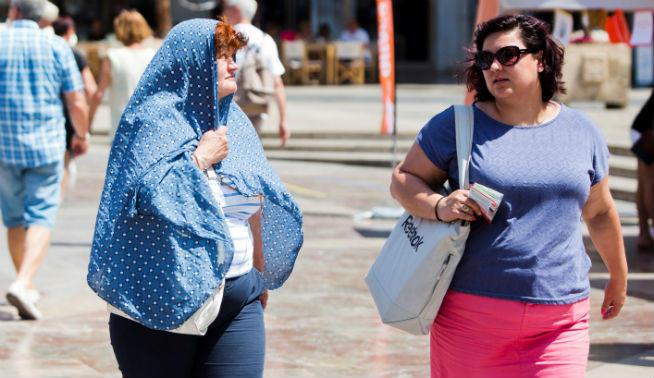 Calor en Valencia España