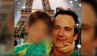 hijo y padre muerto en francia