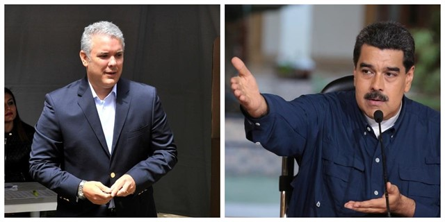 Iván Duque y Maduro