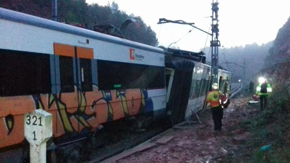 descarrila tren en cataluña