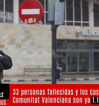 33 personas fallecidas en la comunidad valenciana