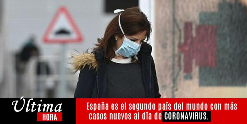 España es el segundo país del mundo con más casos nuevos al día