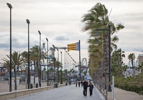 Vientos fuertes en Valencia