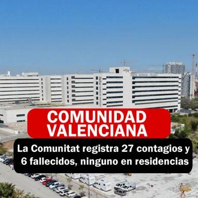 COMUNIDAD VALENCIANA CONTAGIOS CON CORONAVIRUS
