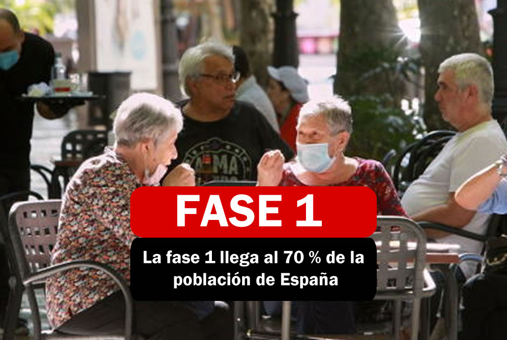 EL 70% DE ESPAÑA ENTRA EN FASE 1