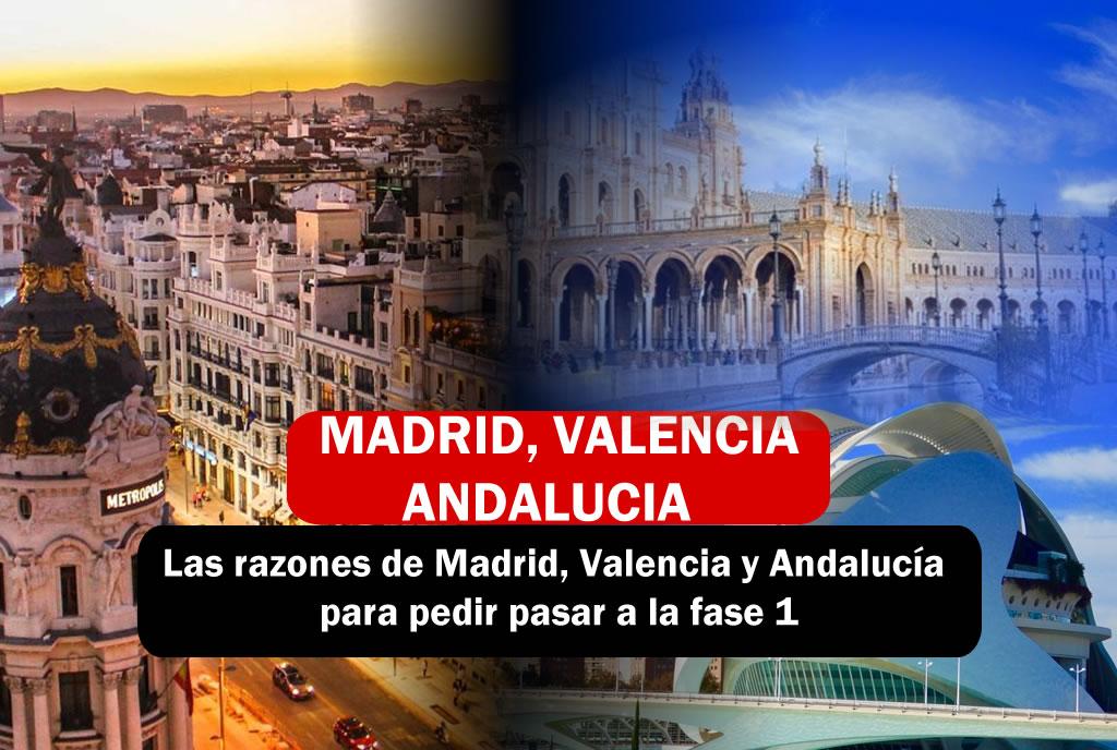 Madrid, Andalucia y Valencia