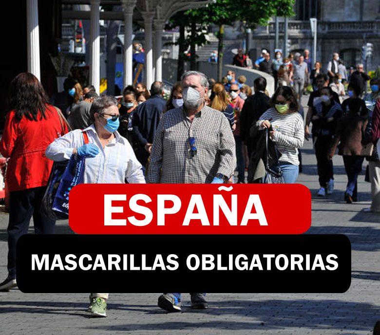 Mascarillas obligatorias en España