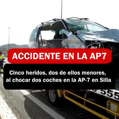 Accidente en la AP7 EN SILLA