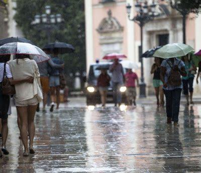 Alerta en Valencia por lluvias