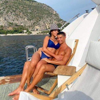 la explosiva Giorgina y Cristiano Ronaldo