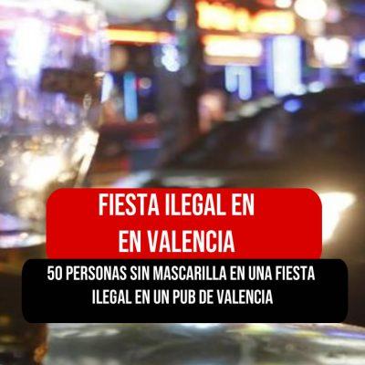 Fiesta ilegal sin Mascarilla en Valencia España