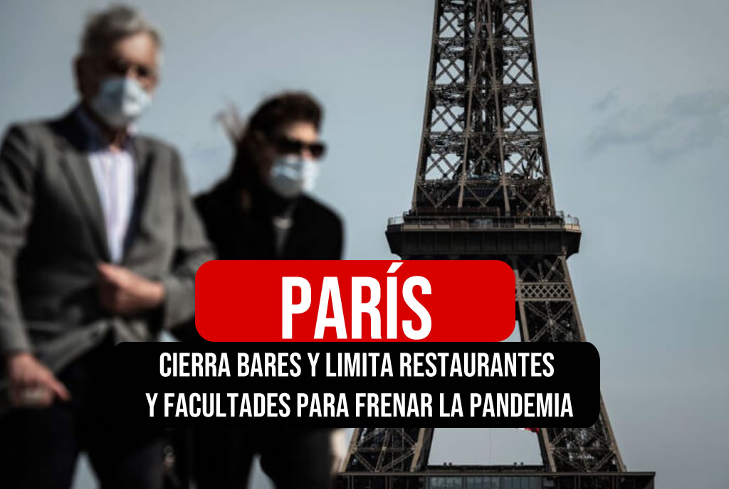 París cierra bares por Coronavirus