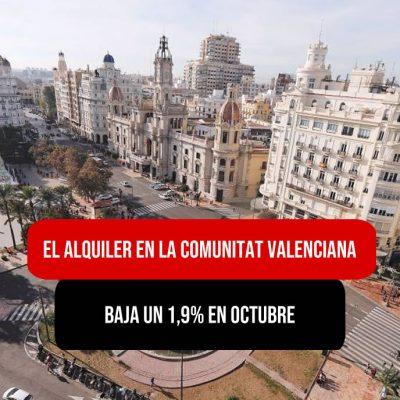 El alquiler en la comunitat valenciana baja un 1,9% en octubre