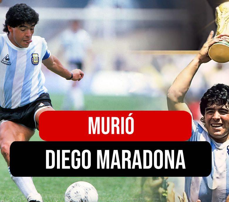 Murio Diego Armando Maradona