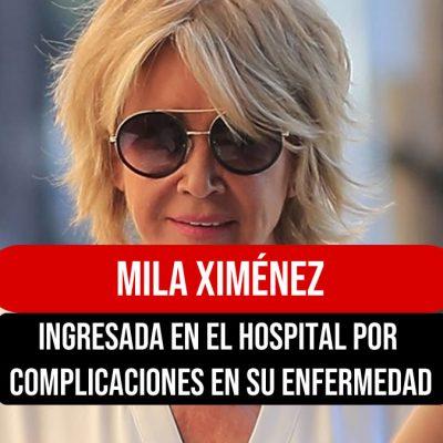 Mila Ximénez ingresada en el hospital