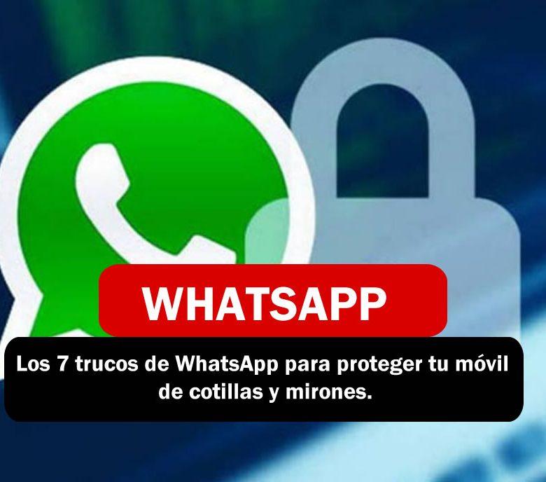 Protege tu whatsApp
