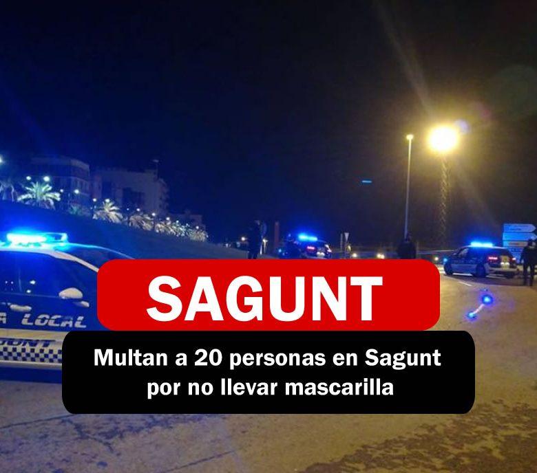 Policia multa a 20 personas en Sagunt