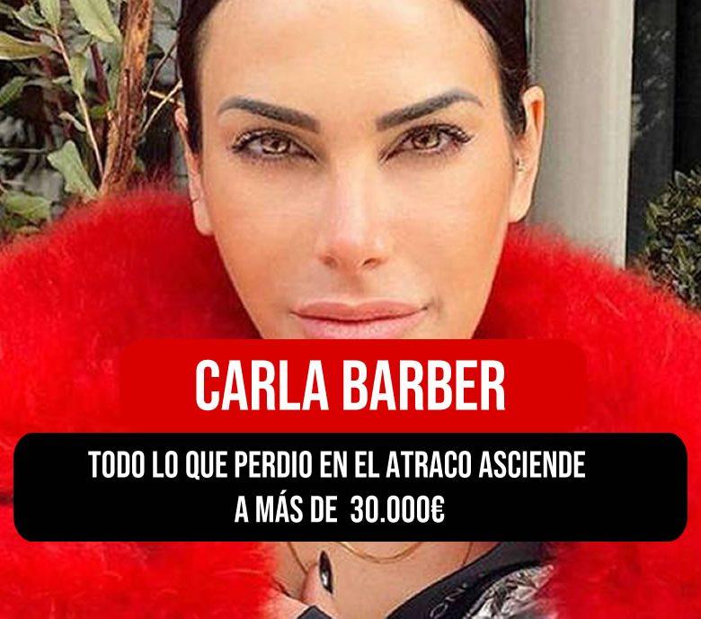 Carla Barber atracada en Madrid
