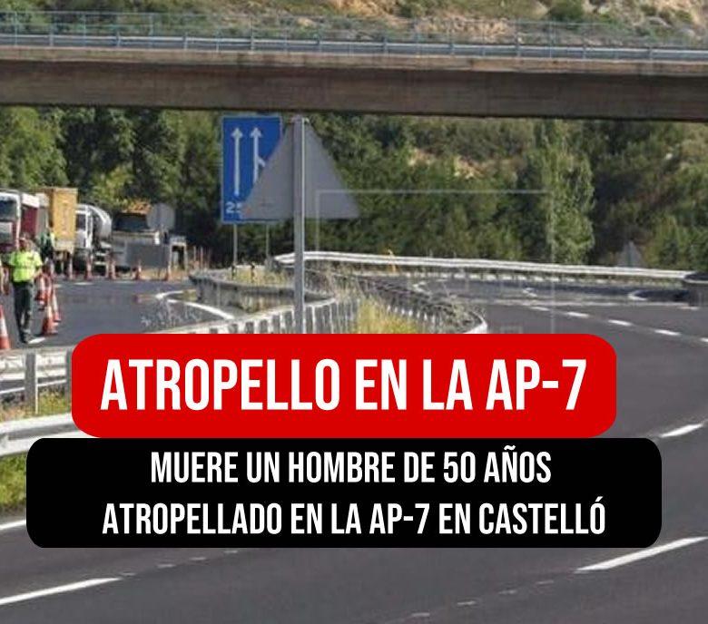 Atropello en la AP-7 en Valencia