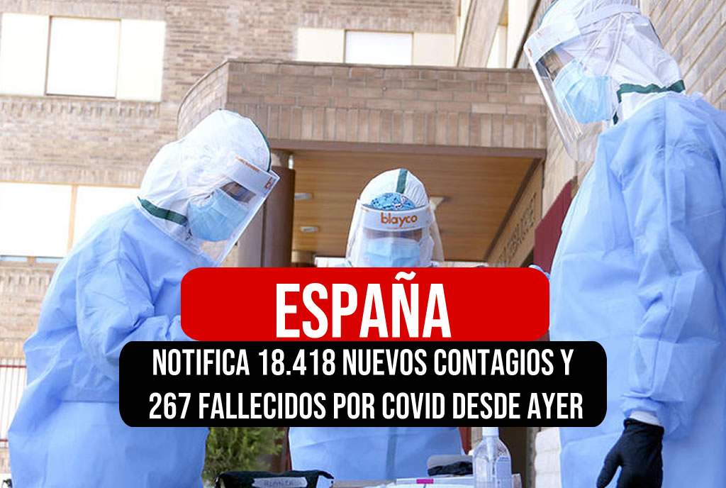España notifica 18.418 nuevos contagios