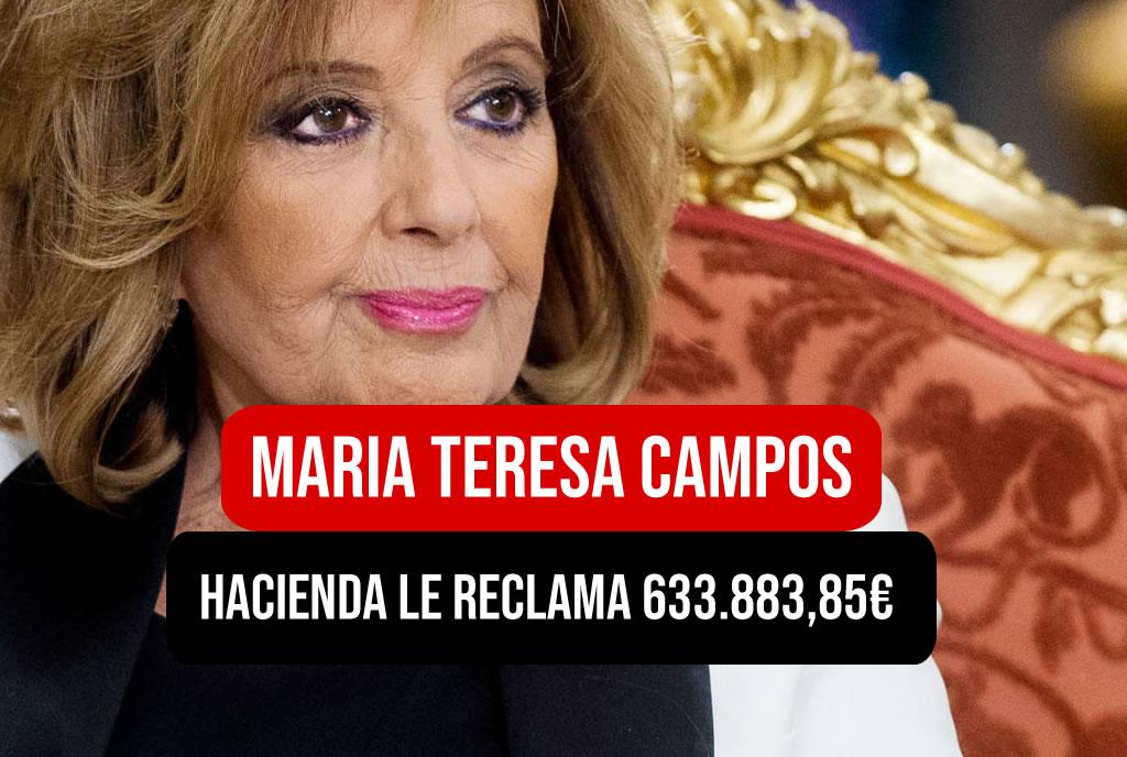 Hacienda le reclama 700mil euros a Maria Teresa Campos